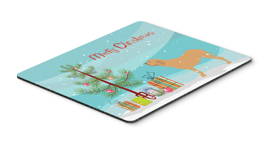 "Buy this ""Fila Brasileiro Merry Christmas Tree Mouse Pad, Hot Pad or Trivet"""