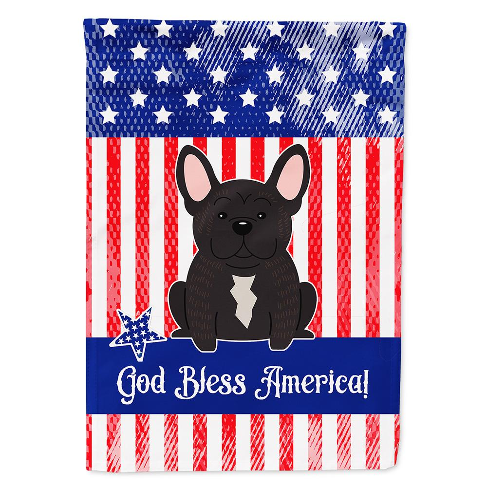 Patriotic USA French Bulldog Brindle Flag Garden Size by Caroline's Treasures