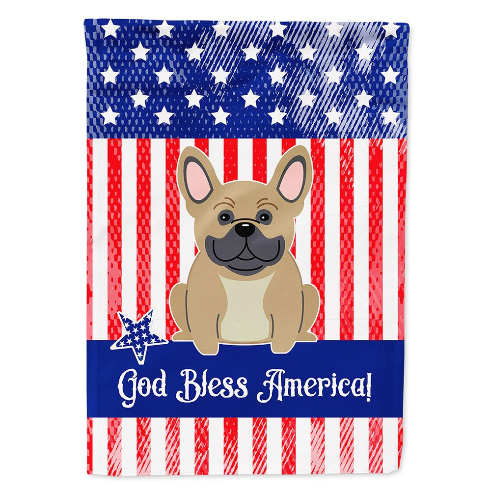 Patriotic USA French Bulldog Cream Flag Garden Size by Caroline's Treasures