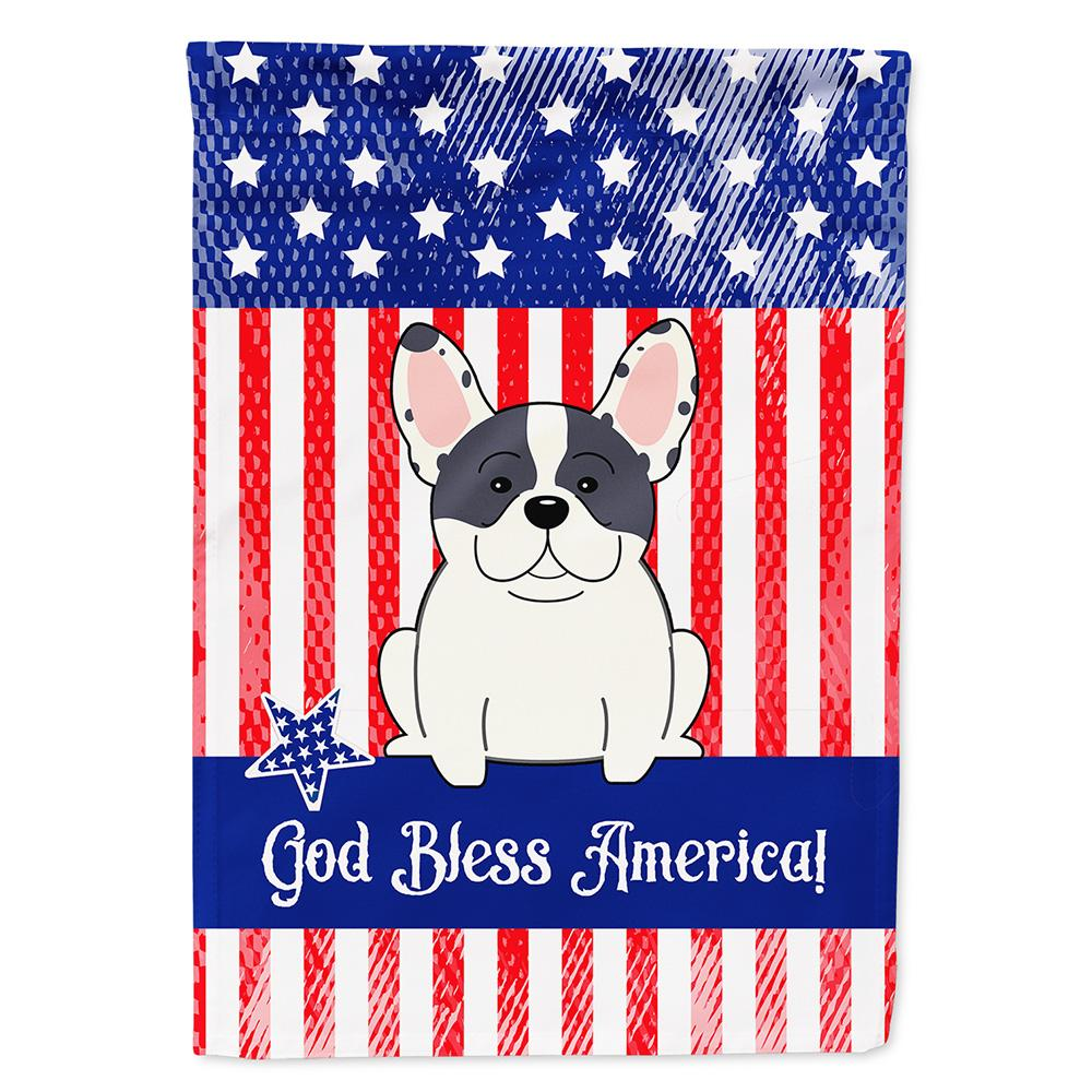 Patriotic USA French Bulldog Piebald Flag Garden Size BB3006GF by Caroline's Treasures