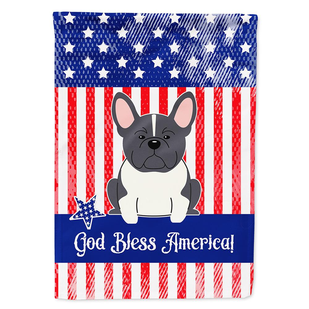 Patriotic USA French Bulldog Black White Flag Garden Size by Caroline's Treasures