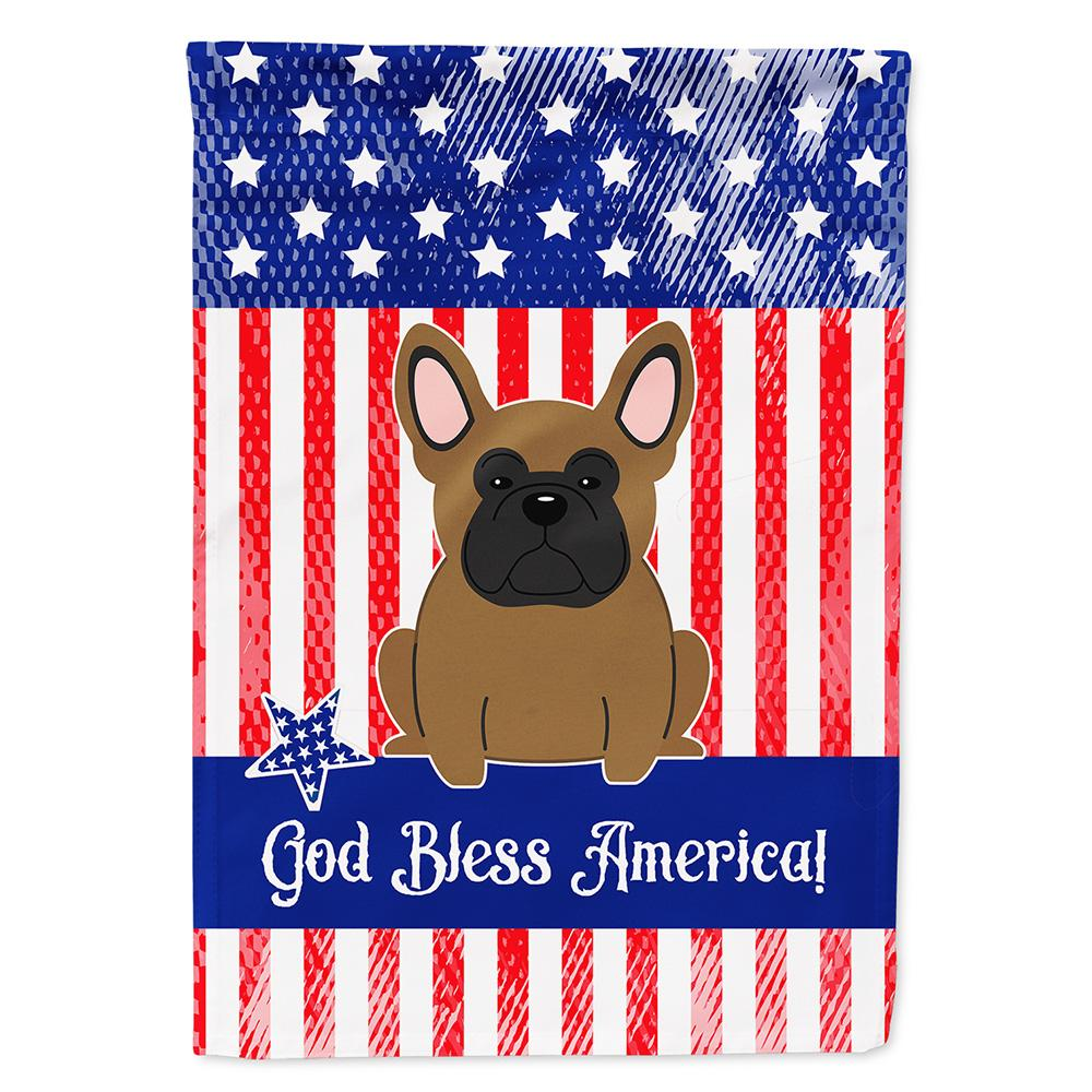 Buy this Patriotic USA French Bulldog Brown Flag Garden Size
