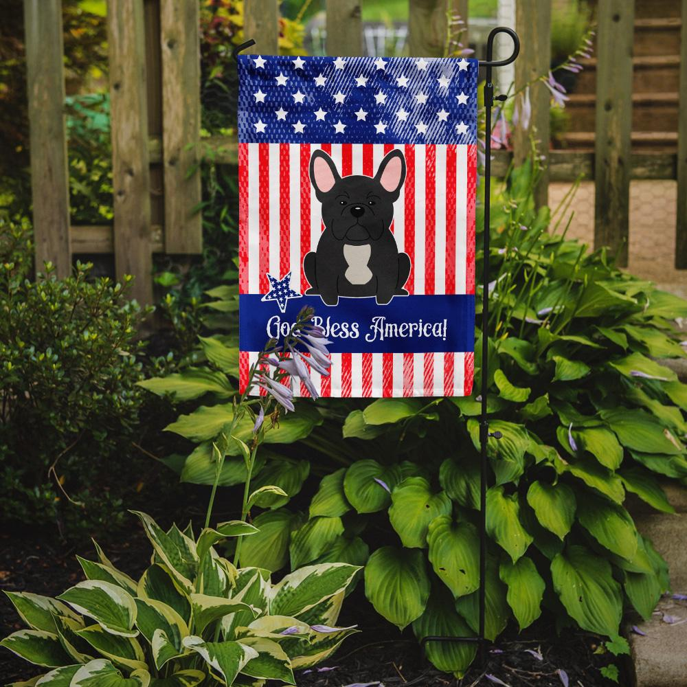Patriotic USA French Bulldog Black Flag Garden Size by Caroline's Treasures