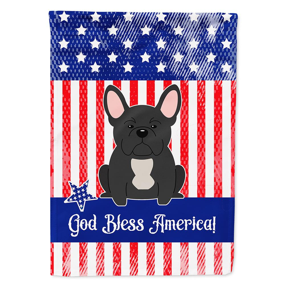 Buy this Patriotic USA French Bulldog Black Flag Garden Size
