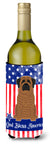 Buy this Patriotic USA Mastiff Brindle Wine Bottle Beverge Insulator Hugger
