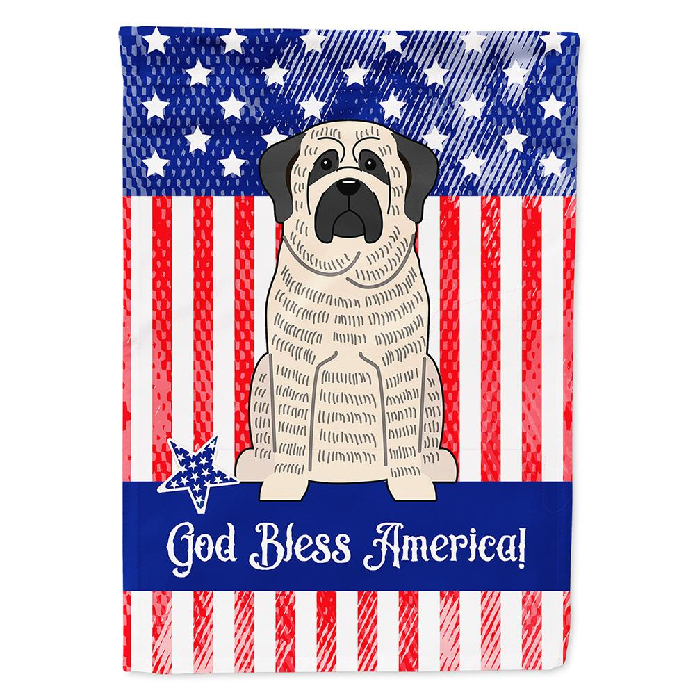 Patriotic USA Mastiff Brindle White Flag Garden Size BB3011GF by Caroline's Treasures
