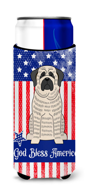 Buy this Patriotic USA Mastiff Brindle White Michelob Ultra Hugger for slim cans BB3011MUK