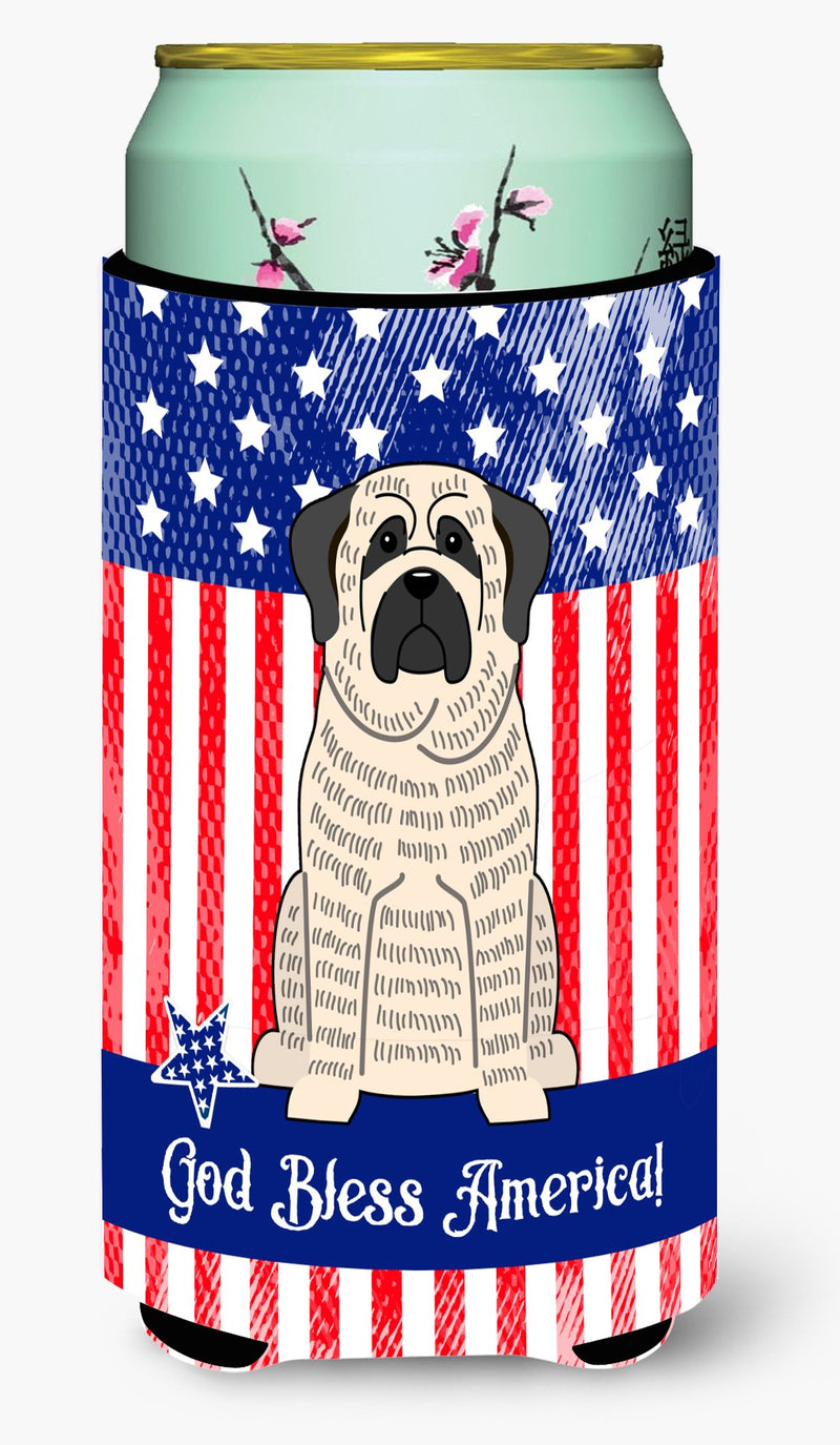 Buy this Patriotic USA Mastiff Brindle White Tall Boy Beverage Insulator Hugger