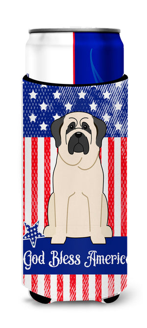 Buy this Patriotic USA Mastiff White Michelob Ultra Hugger for slim cans BB3012MUK