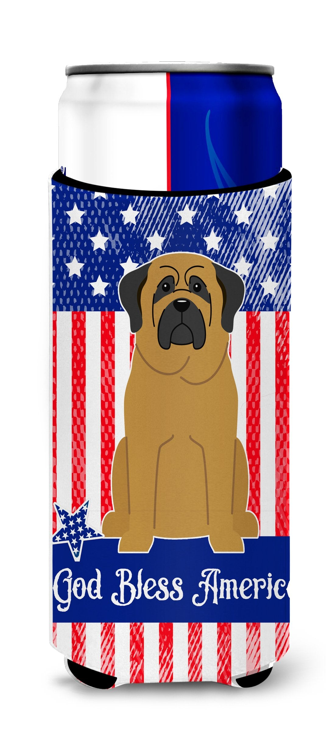 Buy this Patriotic USA Mastiff Michelob Ultra Hugger for slim cans BB3013MUK