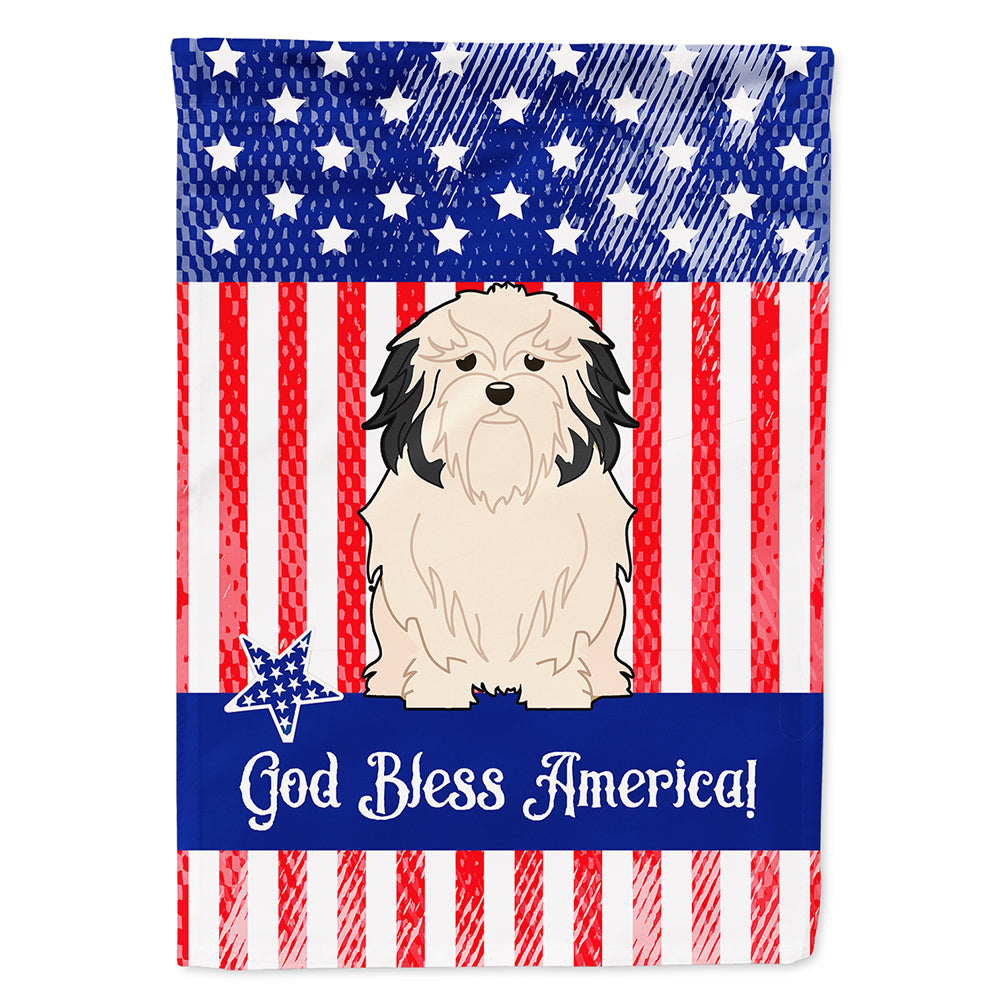 Patriotic USALowchen Flag Canvas House Size BB3014CHF by Caroline's Treasures