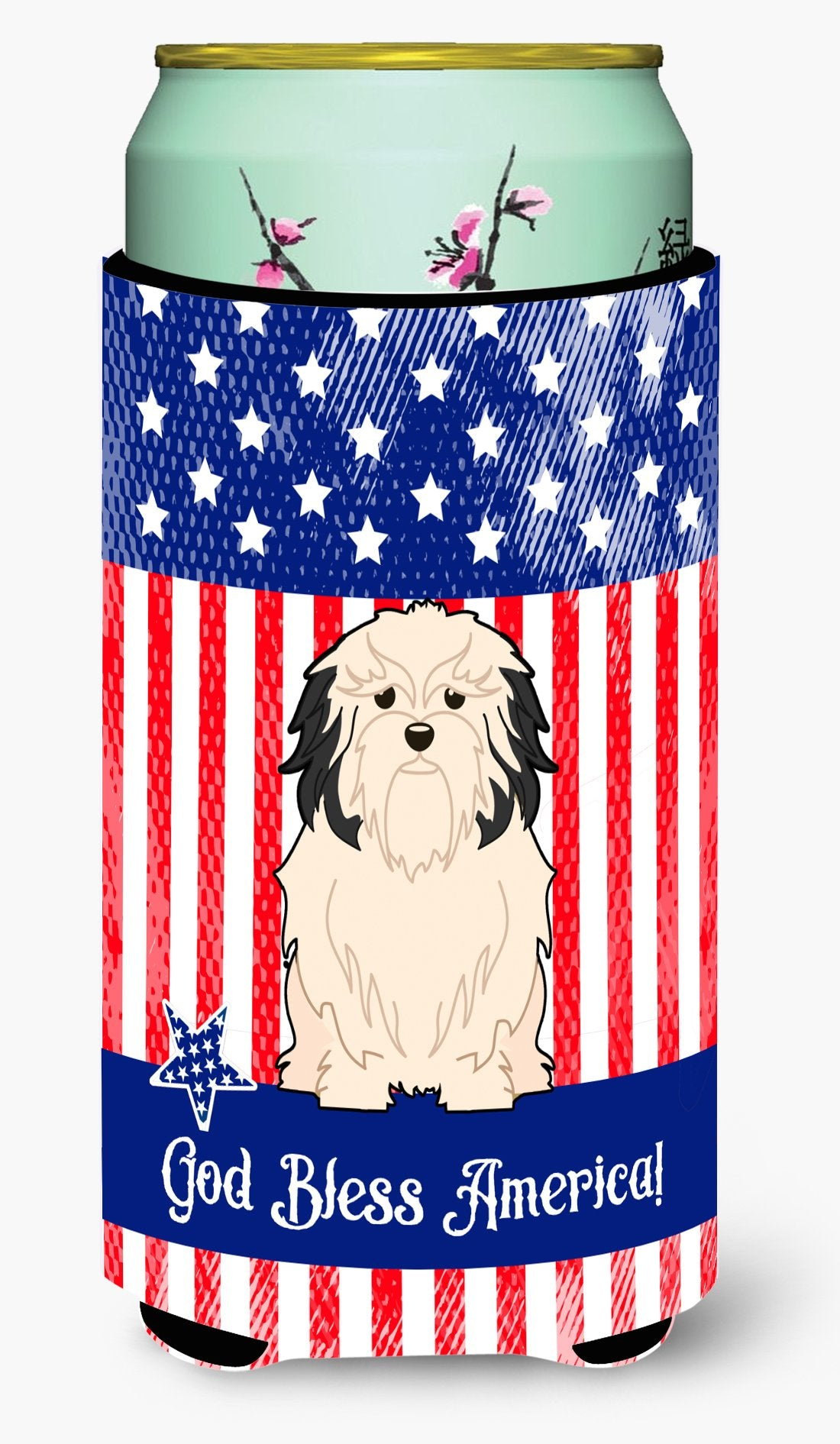 Patriotic USALowchen Tall Boy Beverage Insulator Hugger by Caroline's Treasures