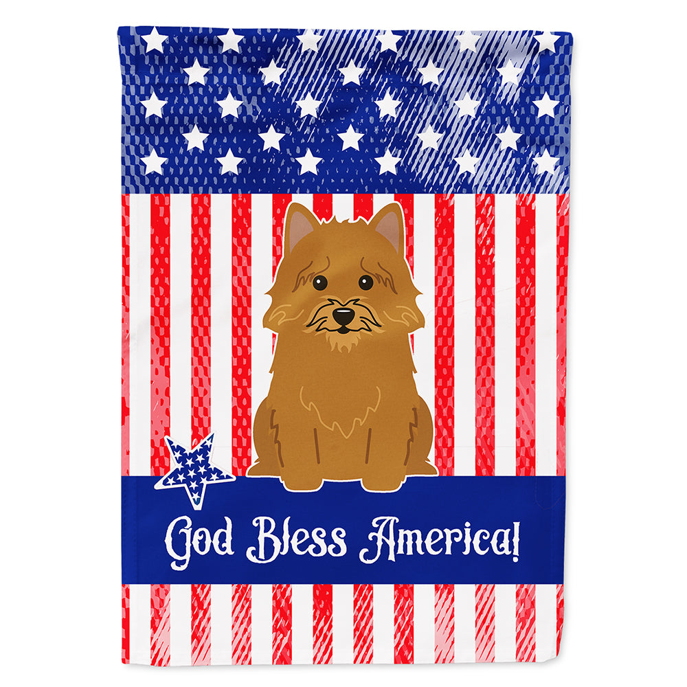 Buy this Patriotic USA Norwich Terrier Flag Canvas House Size BB3015CHF