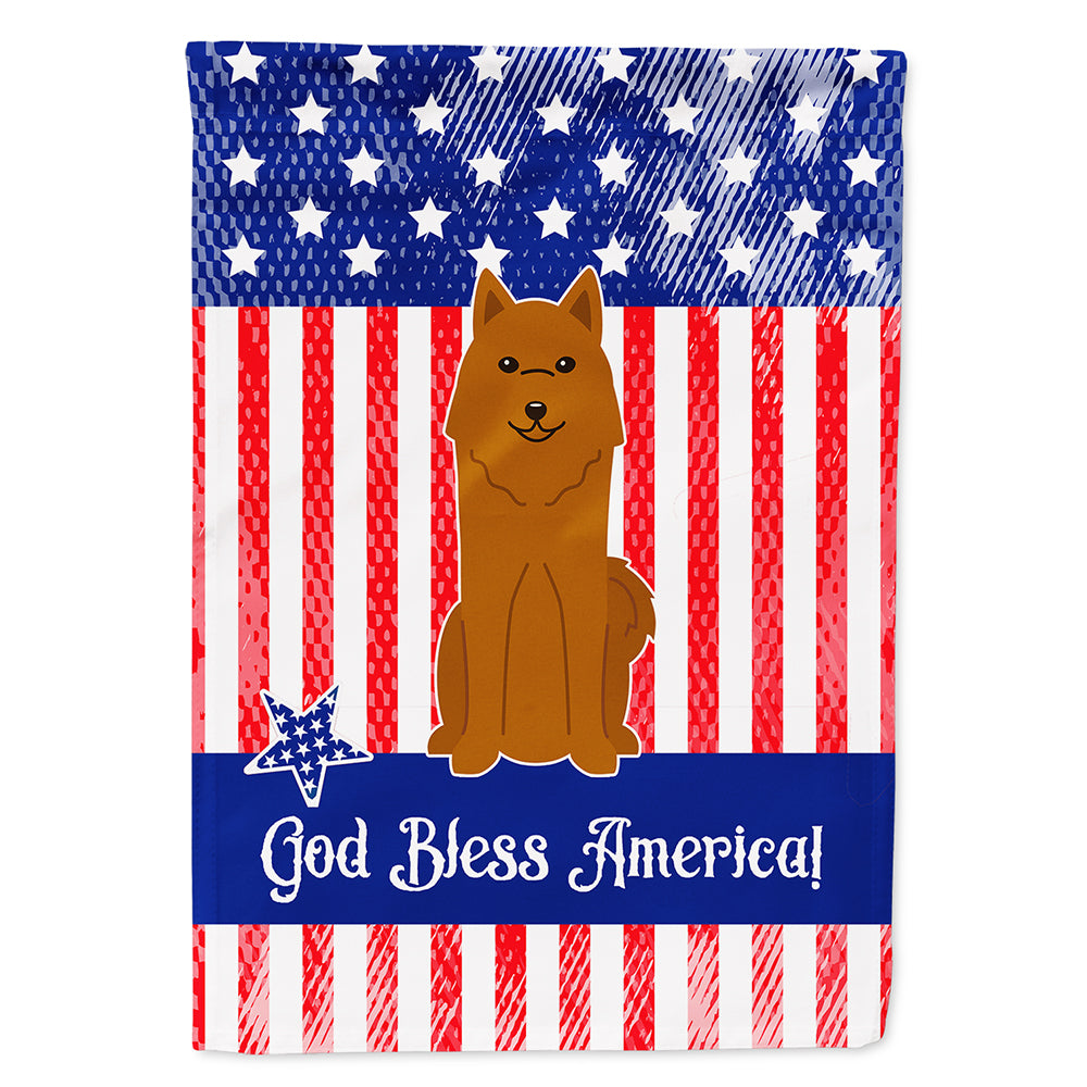 Patriotic USA Karelian Bear Dog Flag Canvas House Size BB3017CHF by Caroline's Treasures