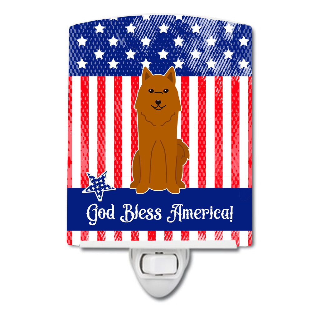 Buy this Patriotic USA Karelian Bear Dog Ceramic Night Light BB3017CNL