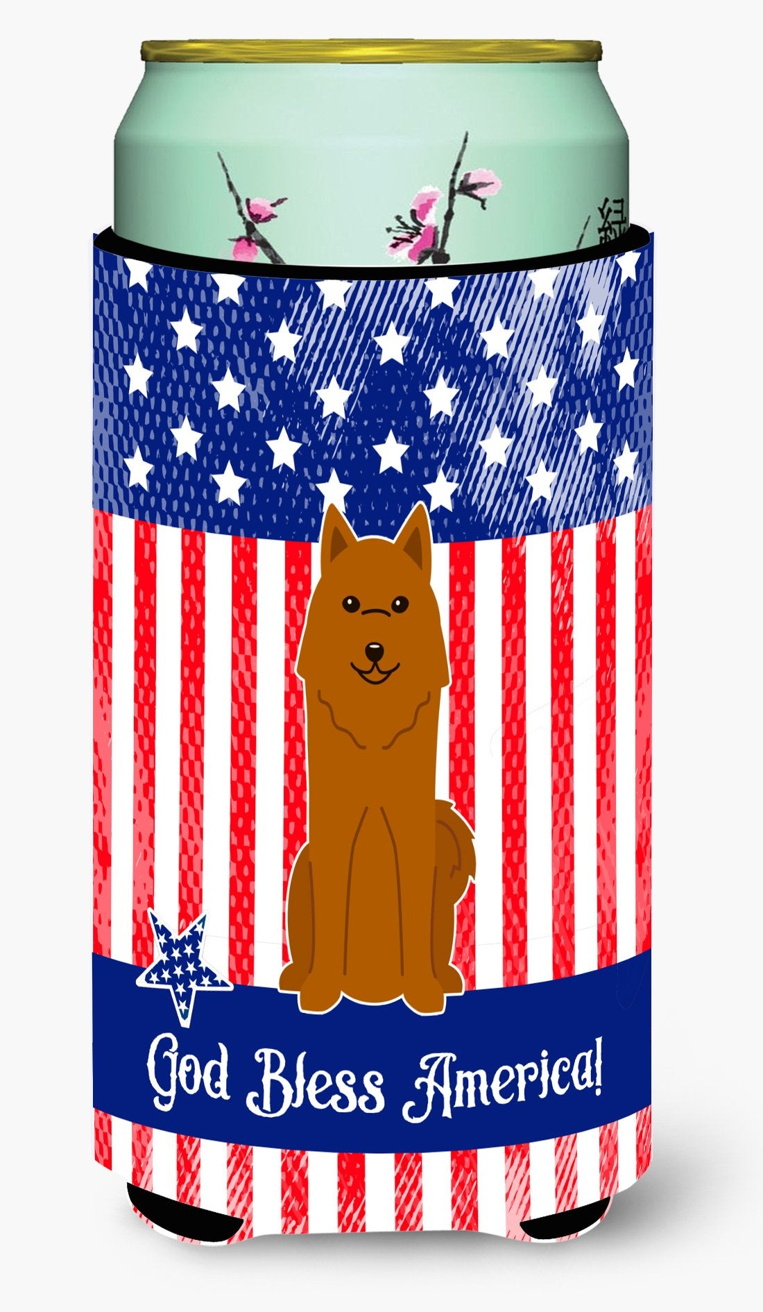 Buy this Patriotic USA Karelian Bear Dog Tall Boy Beverage Insulator Hugger