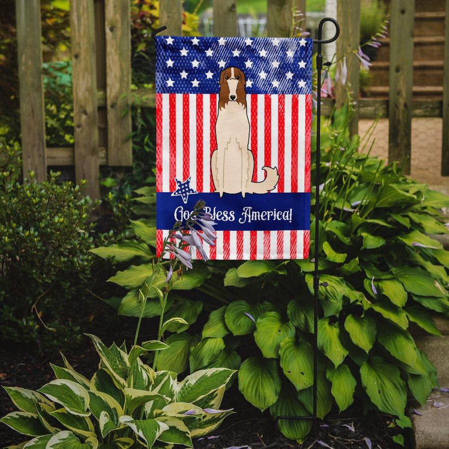 Buy this Patriotic USA Borzoi Flag Garden Size BB3018GF