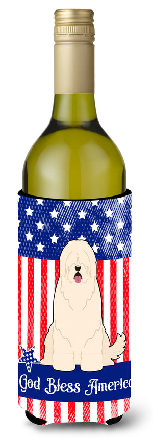 Buy this Patriotic USA South Russian Sheepdog Wine Bottle Beverge Insulator Hugger
