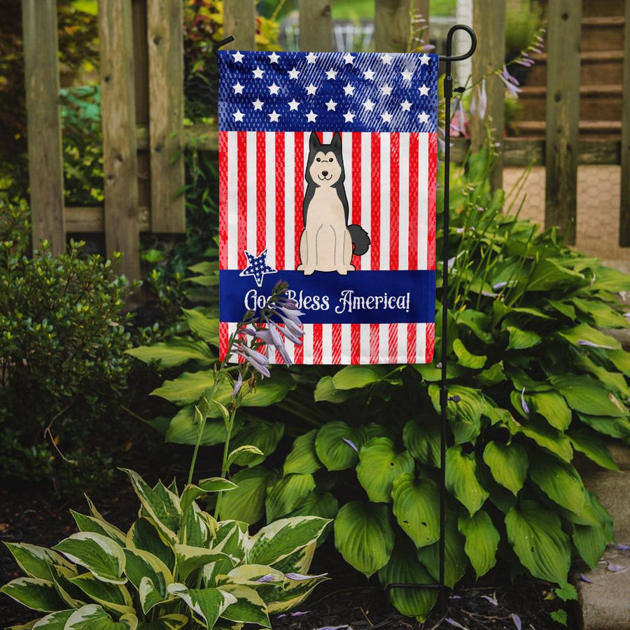 Buy this Patriotic USA West Siberian Laika Spitz Flag Garden Size
