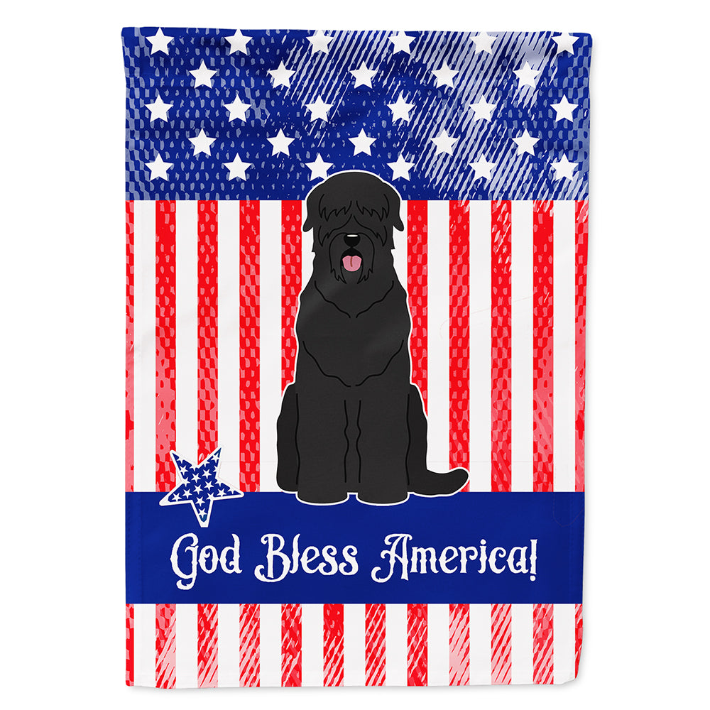 Patriotic USA Black Russian Terrier Flag Canvas House Size BB3021CHF by Caroline's Treasures