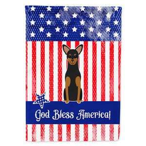 Buy this Patriotic USA Manchester Terrier Flag Garden Size BB3023GF