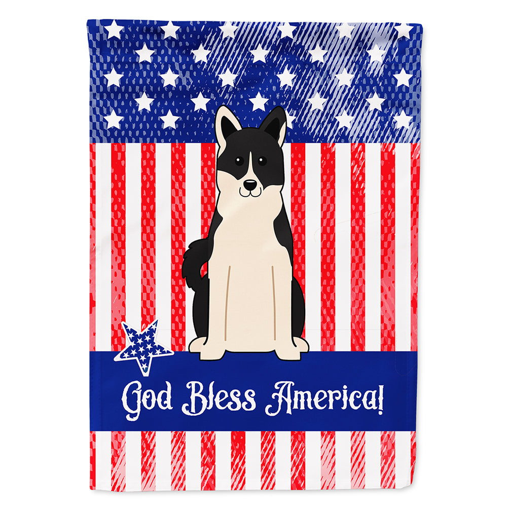 Patriotic USA Russo-European Laika Spitz Flag Canvas House Size BB3024CHF by Caroline's Treasures