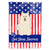 Buy this Patriotic USA Samoyed Flag Canvas House Size BB3025CHF