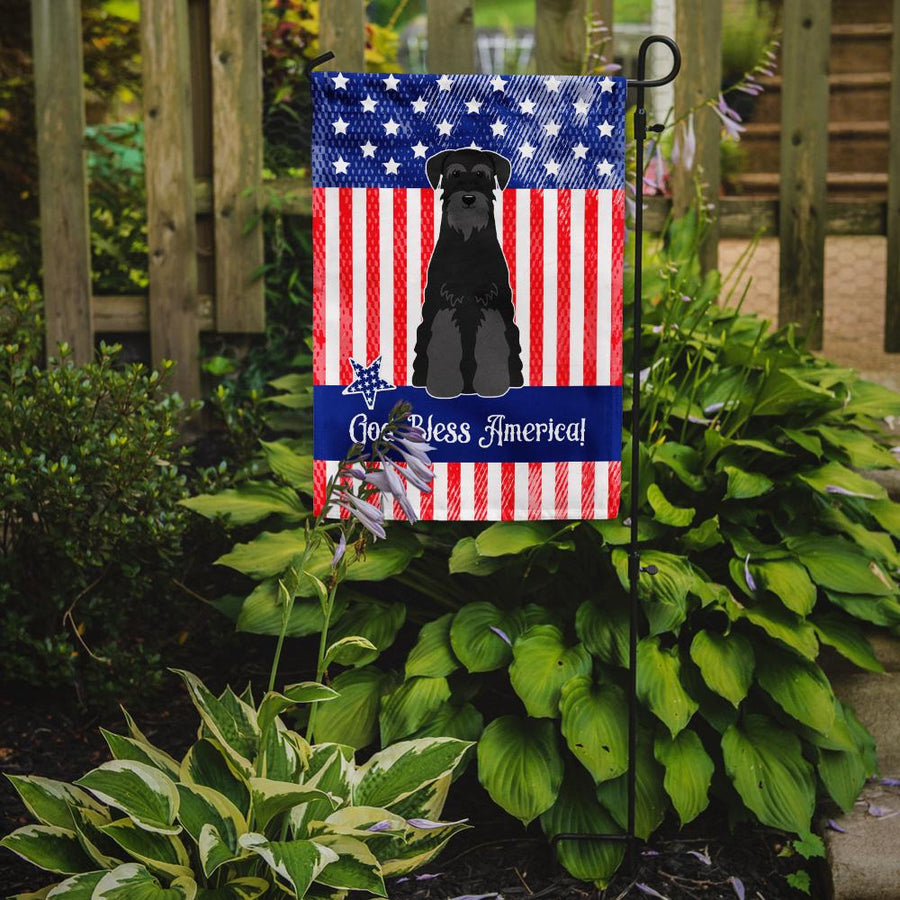 Buy this Patriotic USA Standard Schnauzer Black Flag Garden Size BB3027GF
