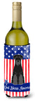 Patriotic USA Standard Schnauzer Black Wine Bottle Beverge Insulator Hugger by Caroline's Treasures