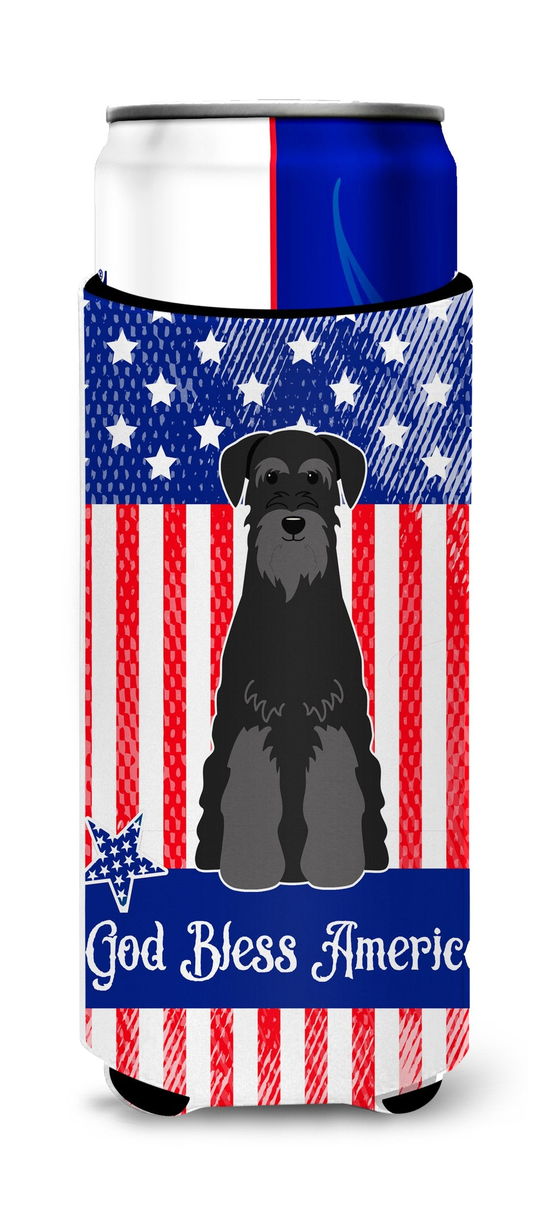 Patriotic USA Standard Schnauzer Black Michelob Ultra Hugger for slim cans BB3027MUK by Caroline's Treasures