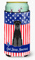 Buy this Patriotic USA Standard Schnauzer Black Tall Boy Beverage Insulator Hugger