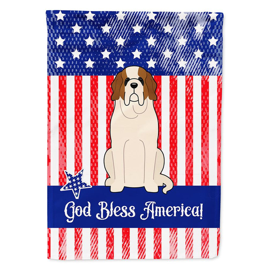 Buy this Patriotic USA Saint Bernard Flag Garden Size