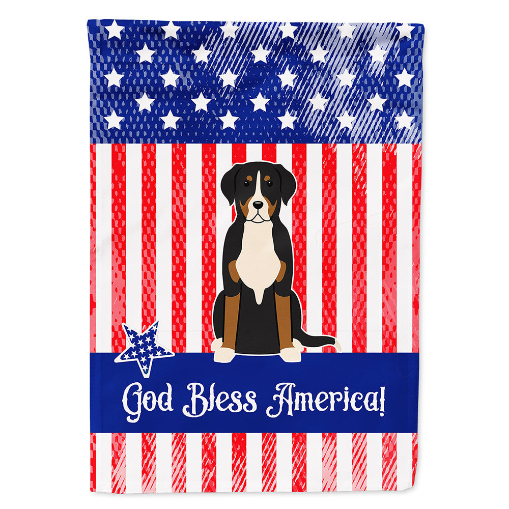 Patriotic USA Greater Swiss Mountain Dog Flag Canvas House Size BB3032CHF by Caroline's Treasures