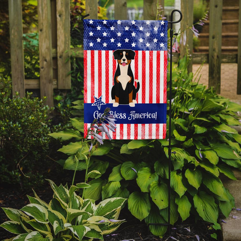 Patriotic USA Entlebucher Flag Garden Size BB3033GF by Caroline's Treasures