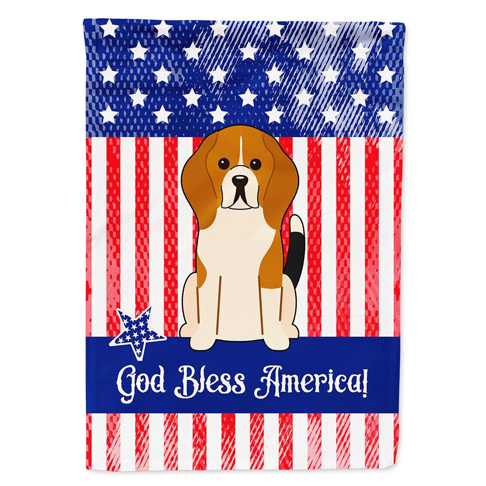 Buy this Patriotic USA Beagle Tricolor Flag Garden Size