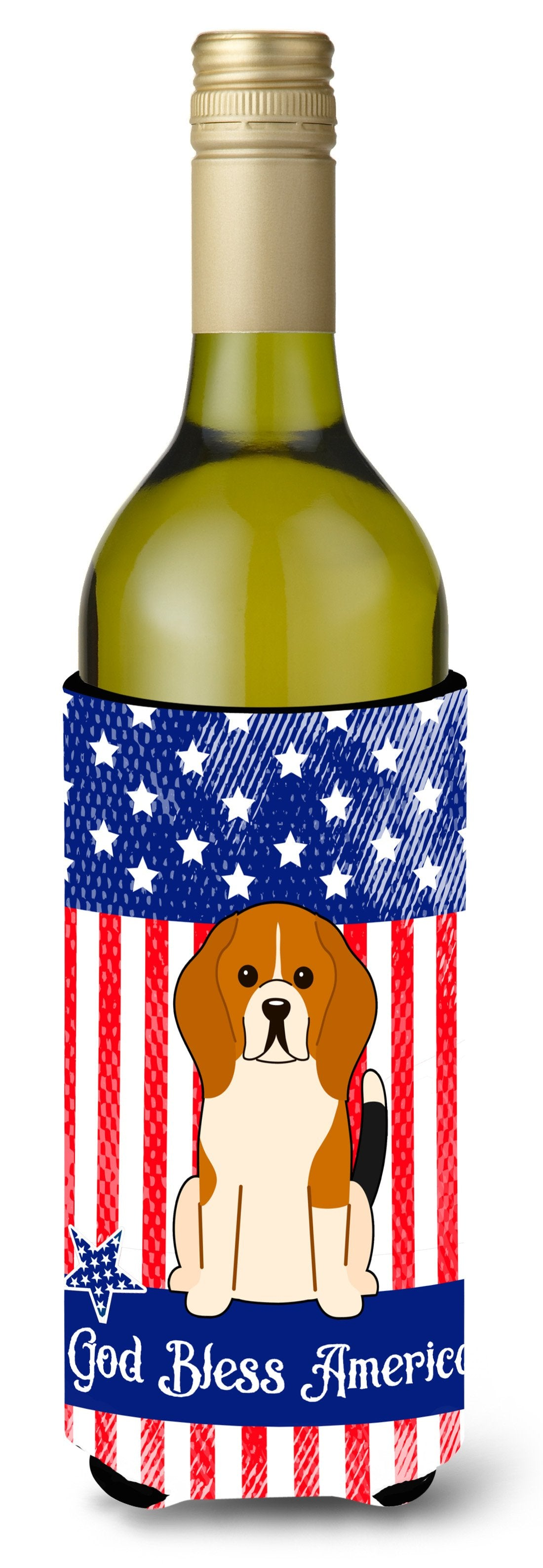 Buy this Patriotic USA Beagle Tricolor Wine Bottle Beverge Insulator Hugger