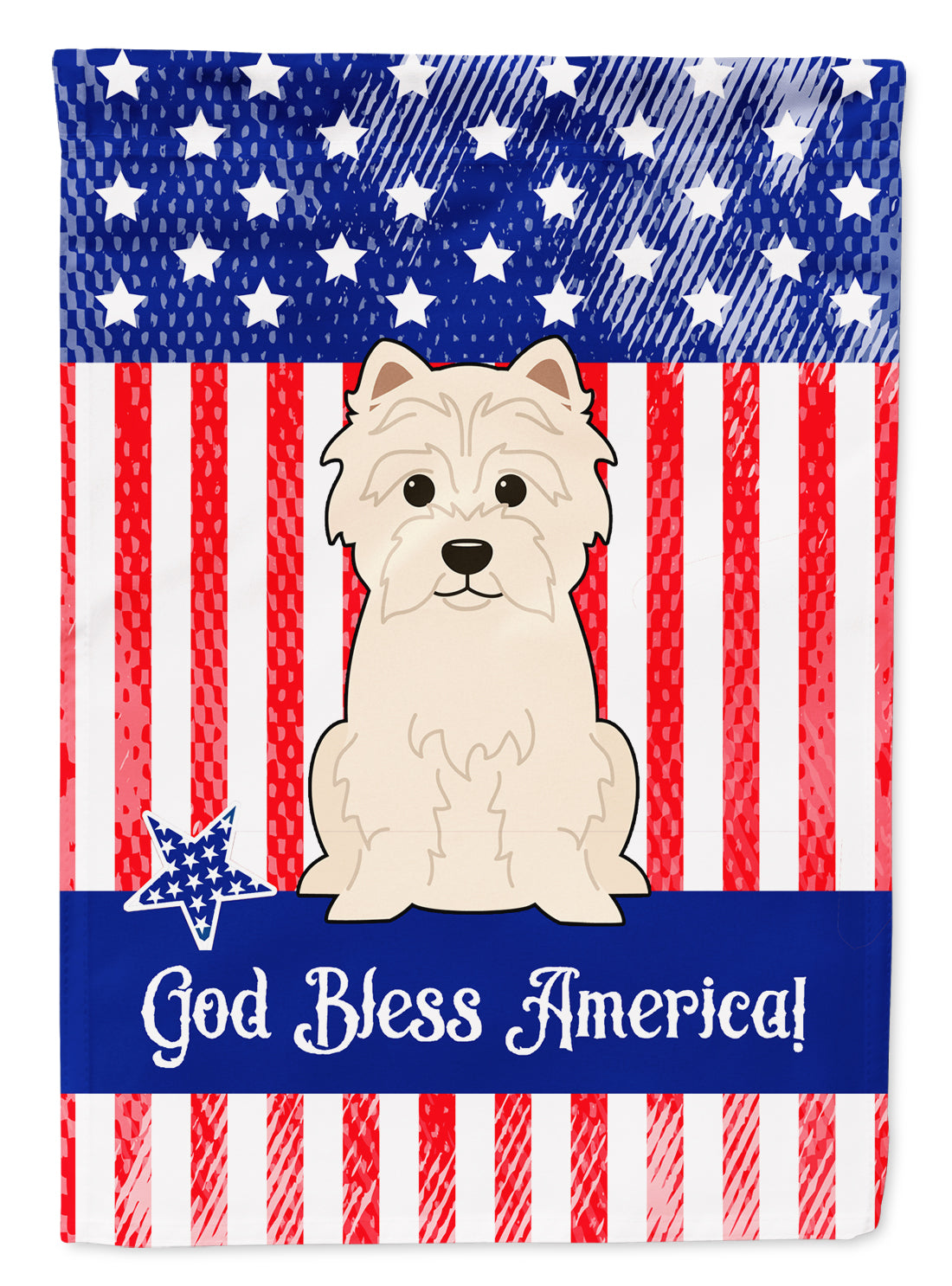 Buy this Patriotic USA Westie Flag Garden Size BB3037GF