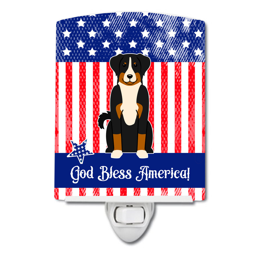 Patriotic USA Appenzeller Sennenhund Ceramic Night Light BB3038CNL by Caroline's Treasures