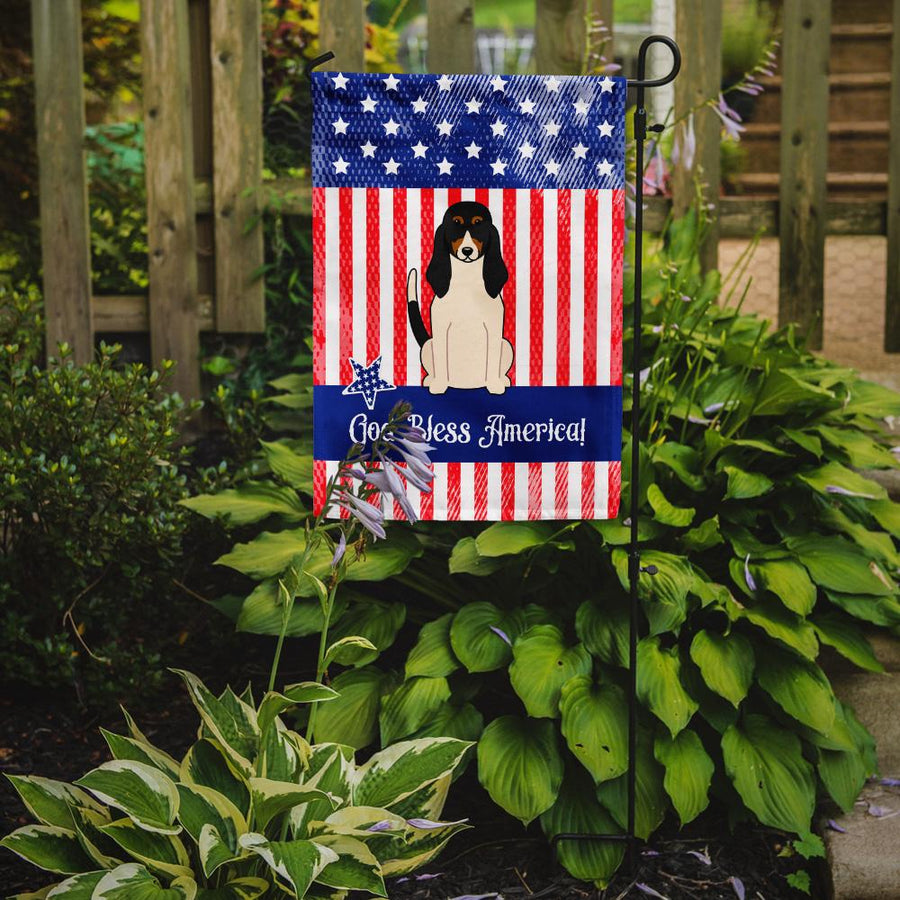 Buy this Patriotic USA Swiss Hound Flag Garden Size BB3039GF