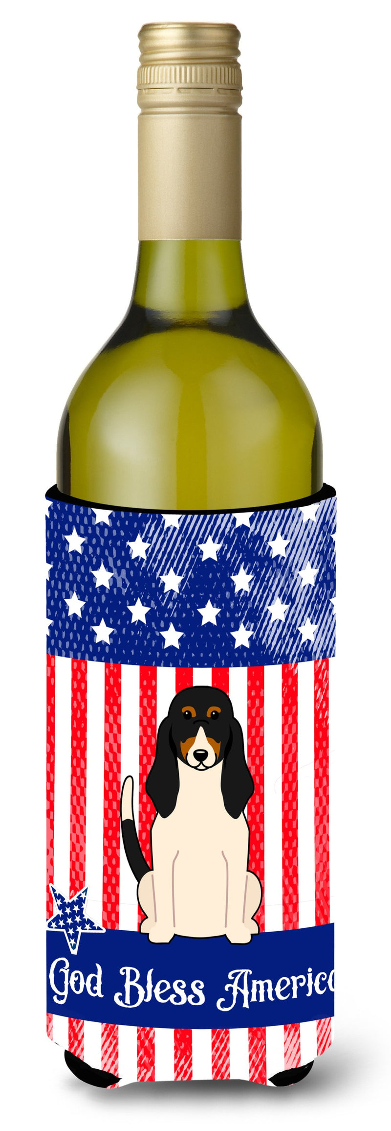 Buy this Patriotic USA Swiss Hound Wine Bottle Beverge Insulator Hugger