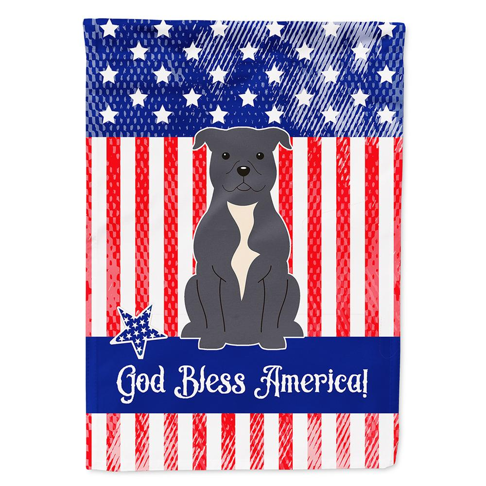 Buy this Patriotic USA Staffordshire Bull Terrier Blue Flag Garden Size BB3041GF