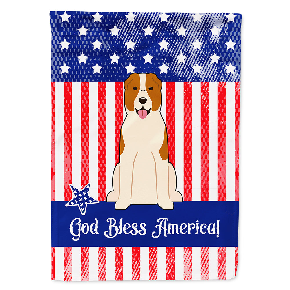 Patriotic USA Central Asian Shepherd Dog Flag Canvas House Size BB3044CHF by Caroline's Treasures