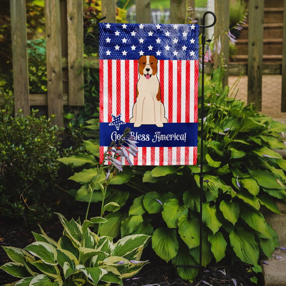Patriotic USA Central Asian Shepherd Dog Flag Garden Size BB3044GF by Caroline's Treasures