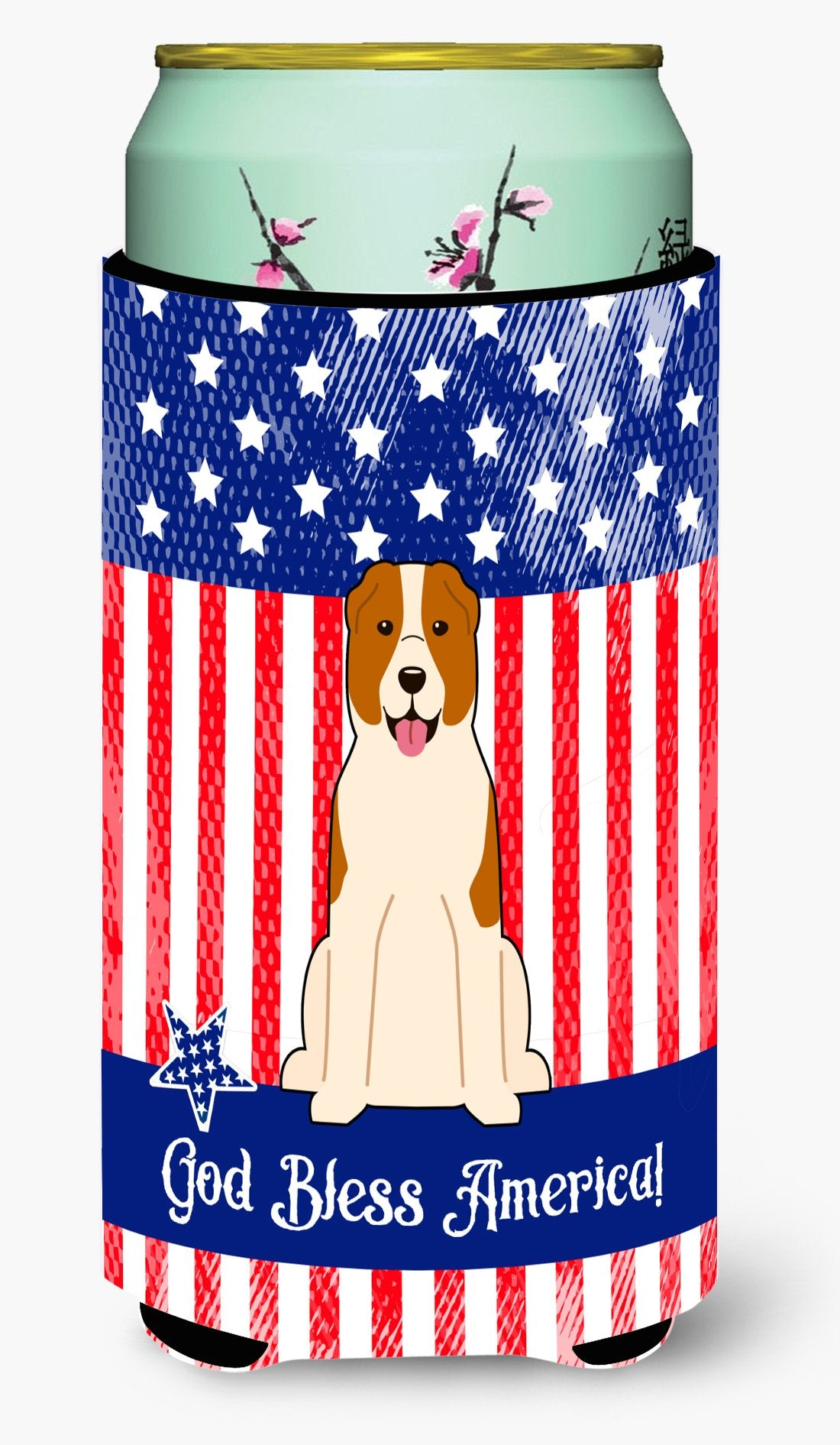 Buy this Patriotic USA Central Asian Shepherd Dog Tall Boy Beverage Insulator Hugger