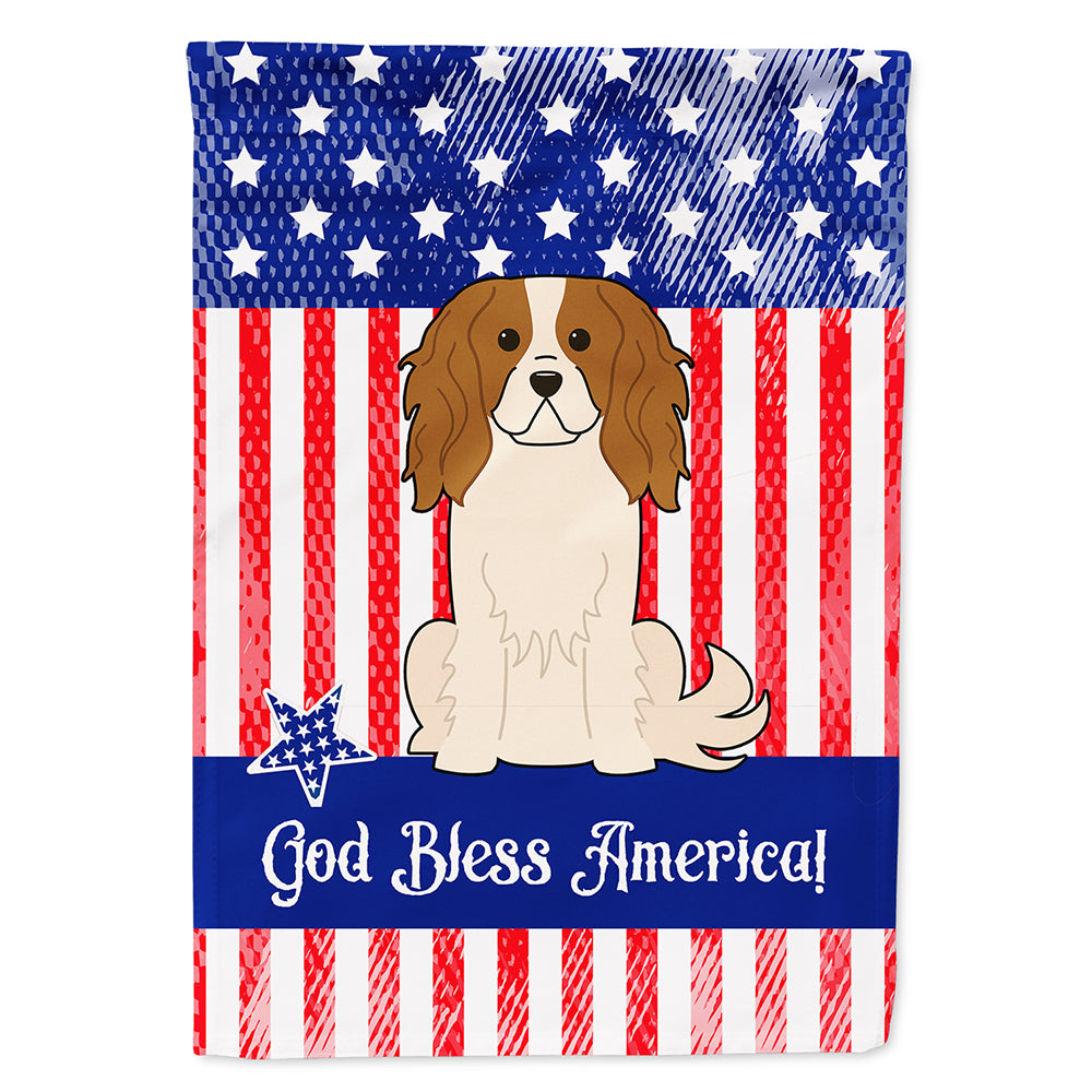 Patriotic USA Cavalier Spaniel Flag Canvas House Size BB3053CHF by Caroline's Treasures