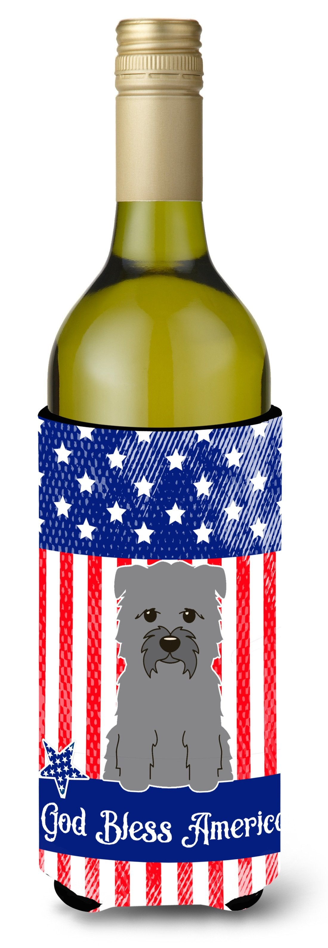 Patriotic USA Glen of Imal Grey Wine Bottle Beverge Insulator Hugger BB3054LITERK by Caroline's Treasures