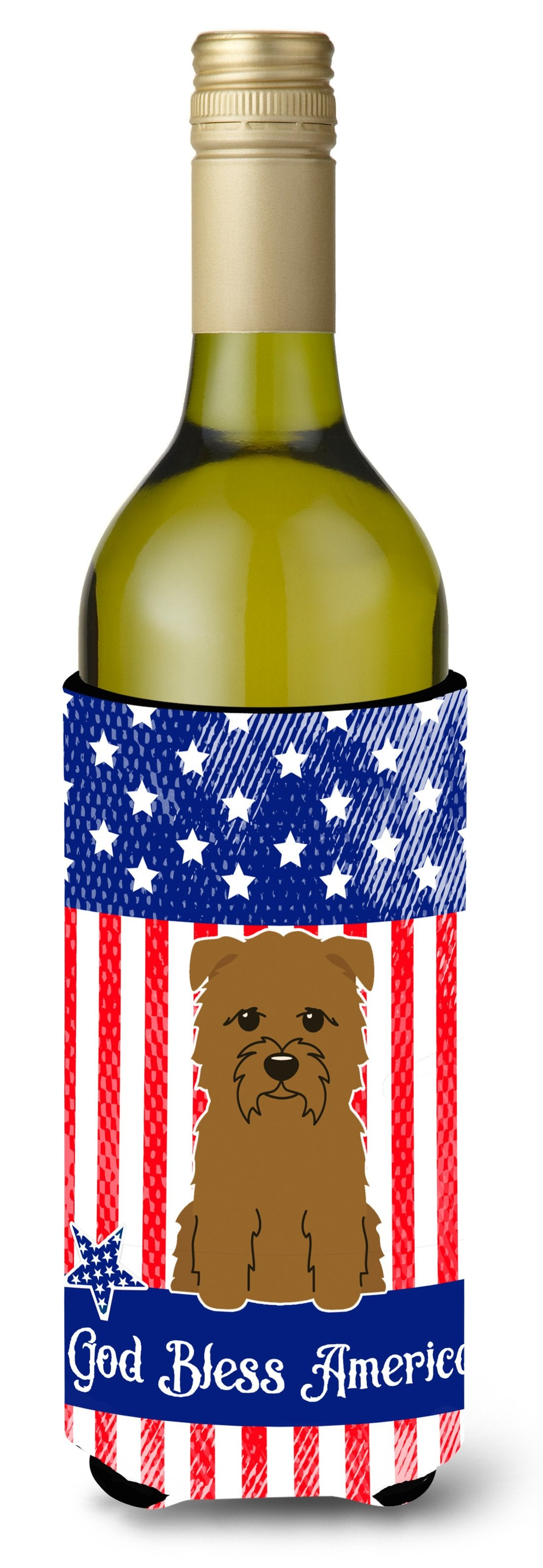 Buy this Patriotic USA Glen of Imal Tan Wine Bottle Beverge Insulator Hugger BB3055LITERK
