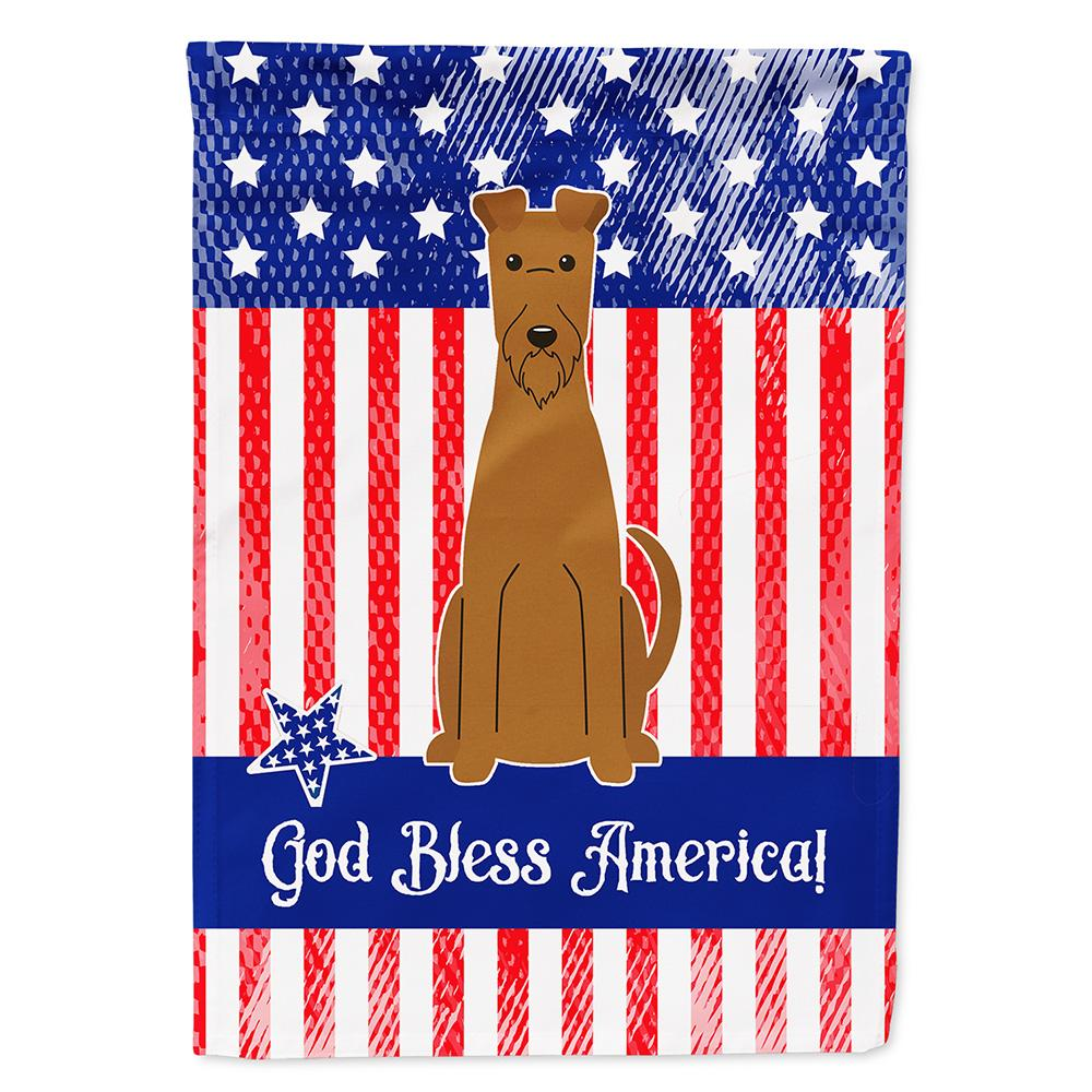 Buy this Patriotic USA Irish Terrier Flag Garden Size