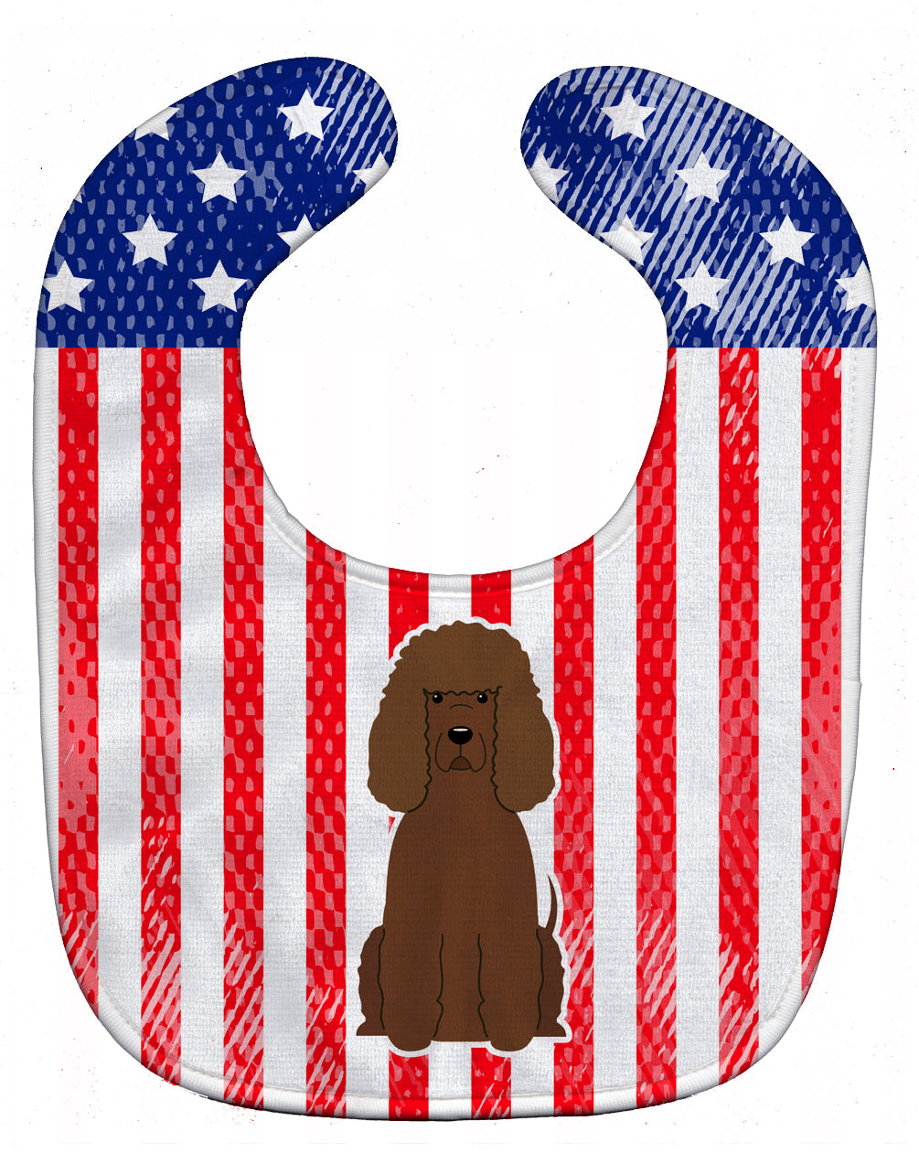 Patriotic USA Irish Water Spaniel Baby Bib BB3058BIB by Caroline's Treasures