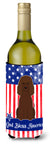 Buy this Patriotic USA Irish Water Spaniel Wine Bottle Beverge Insulator Hugger